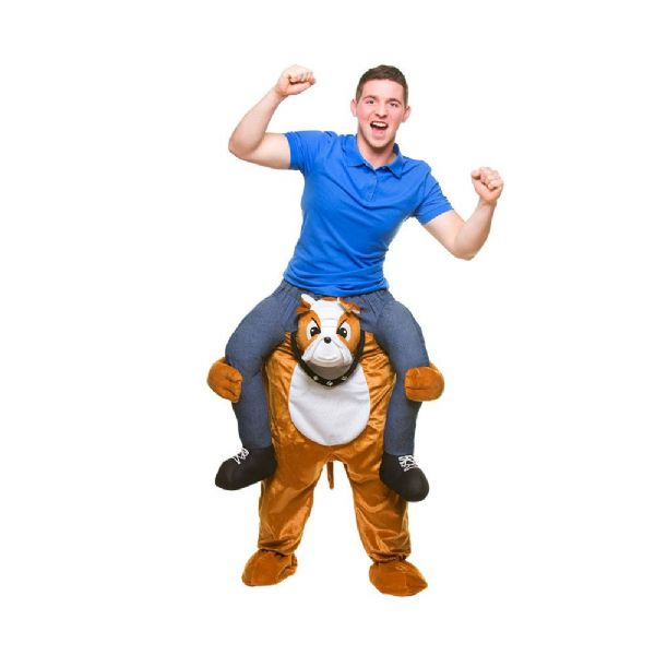 Adults Carry Me - Bulldog Costume Dog Pet Animal Fancy Dress Cosplay